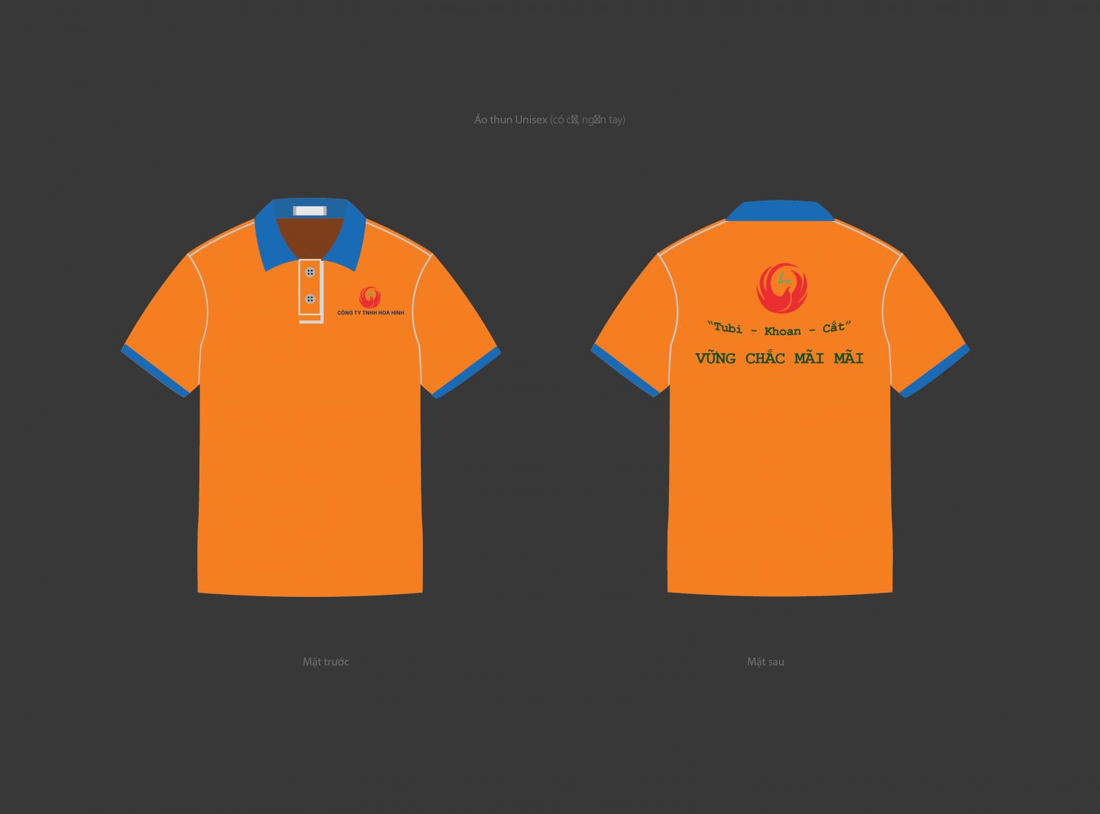 Đồng phục áo thun Công ty Hoà Hinh